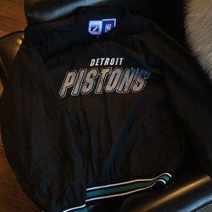 Vintage 90s Detroit Pistons Windbreaker